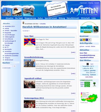 Homepage der Stadtgemeinde Amstetten