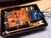 Prozessorplatine mit ATMEGA328P und aufgesetztem GPS Bee Modul